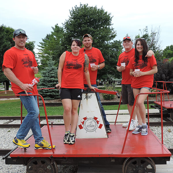 Palmerston handcar races 2nd place
