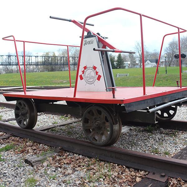 palmerston railway red handcar