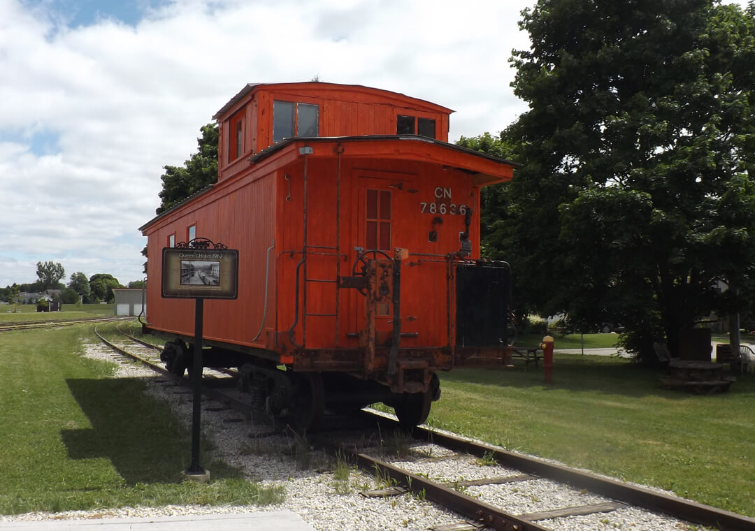 caboose at palmerston railway heritage museum