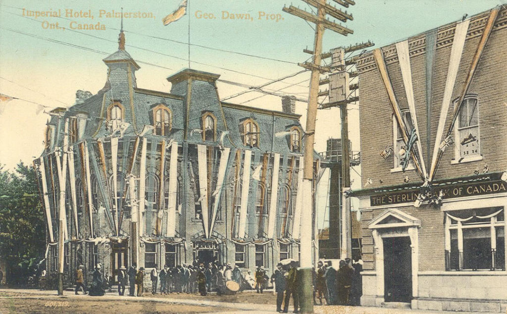 palmerston ontario imperial hotel postcard