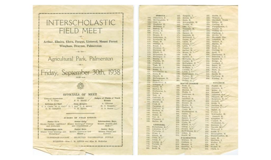 1943 norwell track field meet program