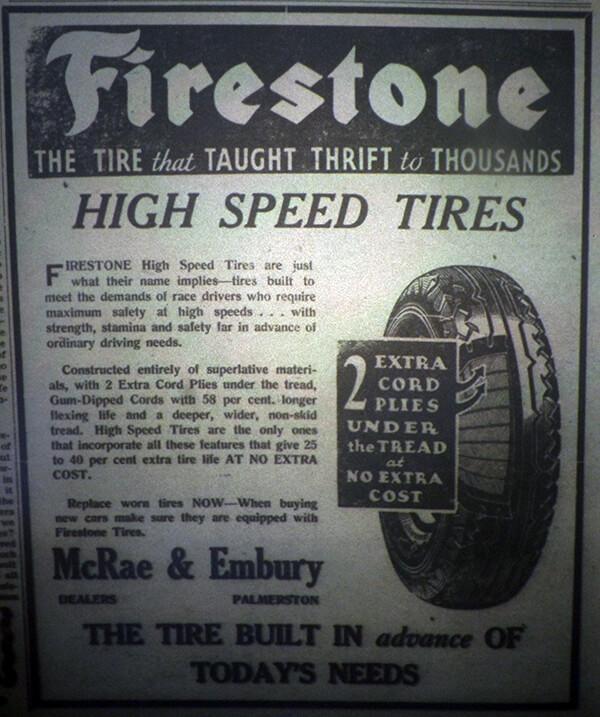 Firestone tire ad