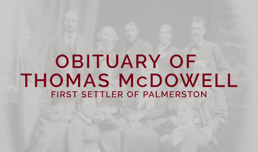 obituary of thomas mcdowell