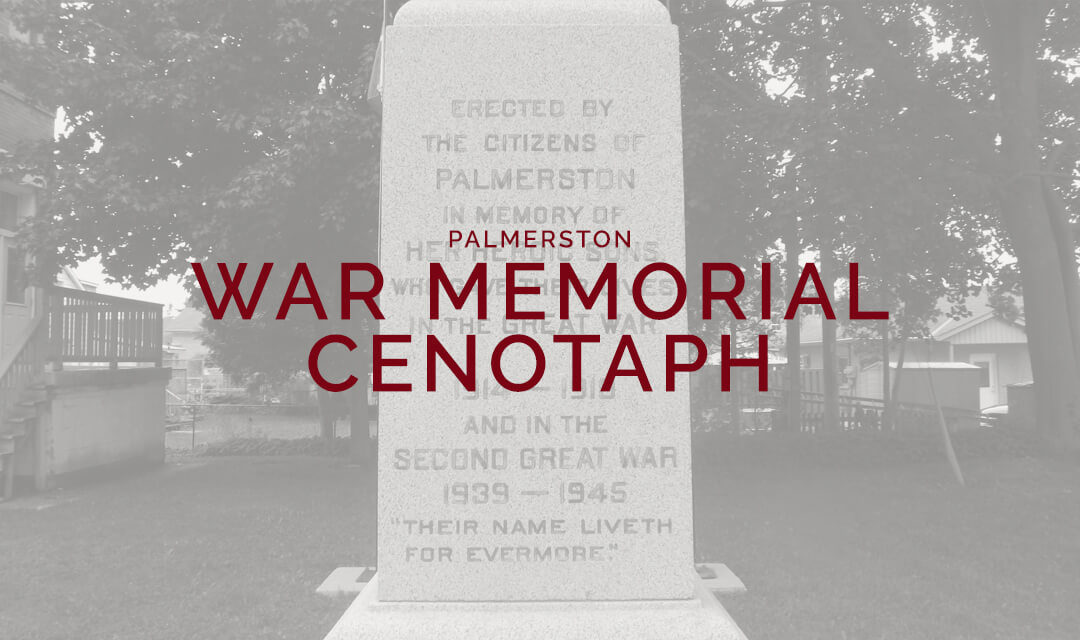 The War Memorial Cenotaph in Palmerston